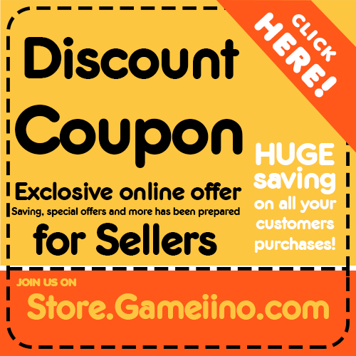 Discount Coupon - Store.Gameiino.com